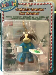 Webkinz-Cookies-For-SantaKinz-Cow-Christmas-Ornament-NEW-IN-BOX-W-SEALED-CODE