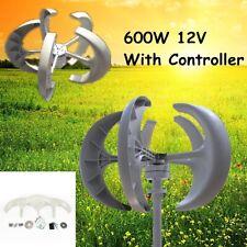 600w Power 5 Blades Dc 12v 24v Wind Turbine Generator Kit W Charge Controller