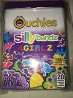 Ouchchies Band Aids In Tin 20 Bandages + 2 Bonus 4 Girlz Silly Bandz
