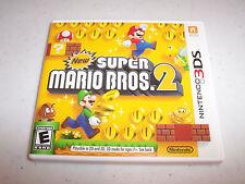 New Super Mario Bros. 2 Nintendo 3DS XL 2DS Game w/Case & Manual