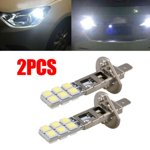 2Pcs H1 12-LED Replacement Headlight//Fog Light Bulbs Bright White 5050 6000k 12V