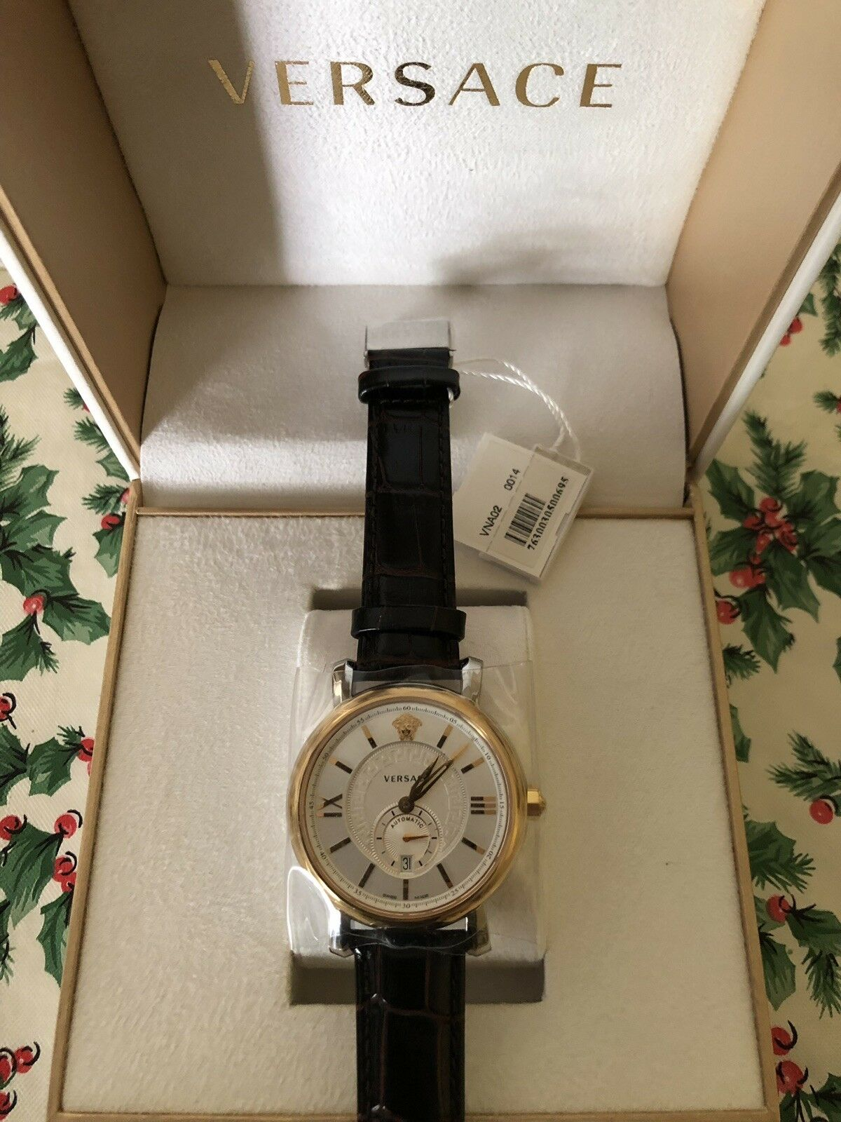 58126fb60 Versace Men's VNA020014 Urban Gent Gold Ion-plated Automatic Watch With Black  Leather Band for sale online | eBay