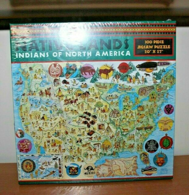 300 PC Puzzle Native American Lands Indians of North Map of United States