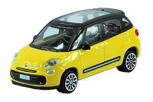 Nuevo-Coche-Modelo-Diecast-Burago-1-43-Fiat-500L-en-Amarillo-039-STREET-fuego-039-Range