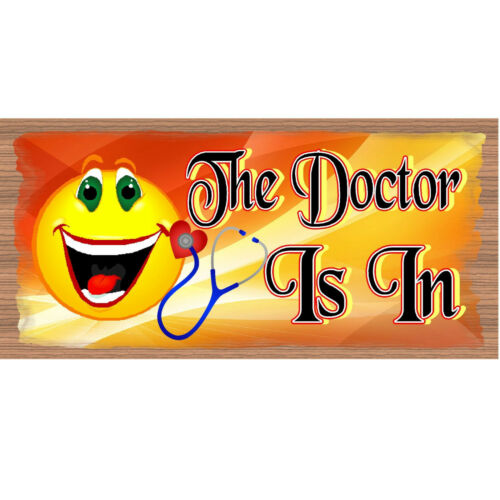 The Doctor Is In GS 1789 Doctor Wood Signs Wood Plaque Doctor Office-GiggleSt