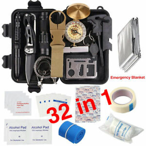 32-in-1-Emergency-Camping-Survival-Equipment-Kit-Outdoor-Tactical-Hiking-Gear