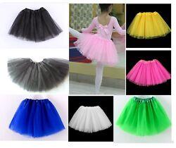 NEU! Tüllrock Tütü Tutu Ballettrock Ballett Petticoat Ballettkleid 10 Farben