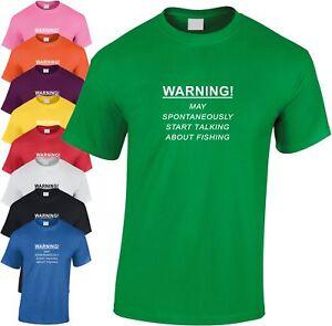 Avertissement-Spontaneously-Debut-Talking-Peche-Enfants-T-Shirt-Cool-Pecheur