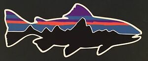 Patagonia-Retro-Trout-Sticker-Decal-Fishing-Hiking-Camping-FREE-SHIPPING