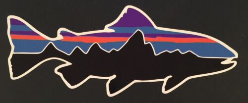 Patagonia Retro Trout Sticker Decal Fishing Hiking Camping **FREE SHIPPING**