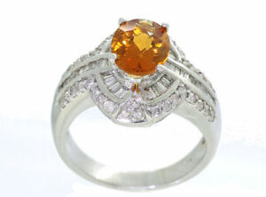 2-41ct-Citrina-y-Diamante-Anillo-en-14k-Oro-Blanco