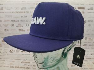 22f86c91b9820 G-STAR RAW Flat Brim Cap Mens OBARUH Snapback Blue Hat Baseball ...