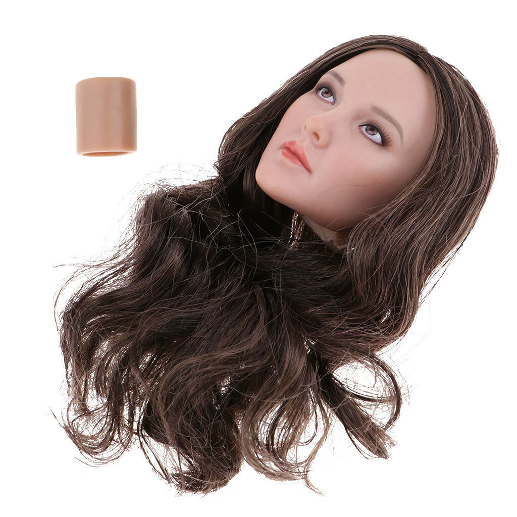1 6 Scale Women Head Sculpt Female for 12'' Phicen Action Figure Toys DIY