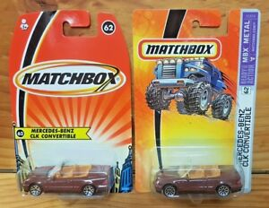 MATCHBOX-2005-MERCEDES-BENZ-CLK-CONVERTIBLE-62-75-2x-VARIATIONS-A-A