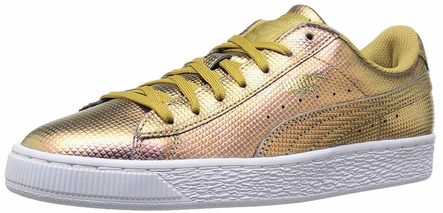 PUMA Homme Basket Classic Holographic Fashion Sneaker - Choose SZ/Color