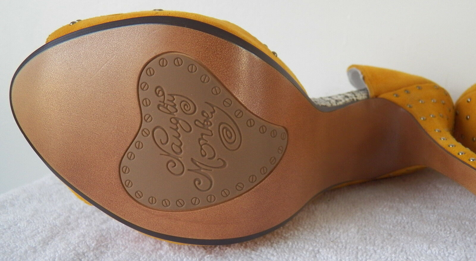 Naughty Monkey, Fiesta, Stilettos, Stilettos, Stilettos, braun Leather w Rhinestones, Größe 10 5e354e