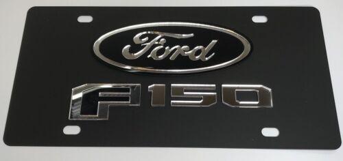 Ford F-150 Emblem Premium Matte Black Vanity License Plate 2015 2016 2017 2018