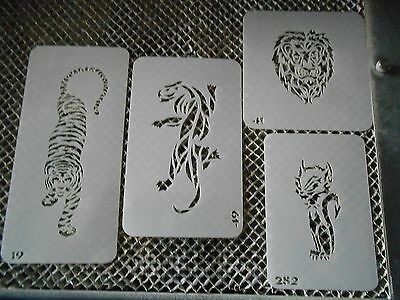 Airbrush Temporary Tattoos Stencil Set #15 Lion-Panther New Island Tribal!