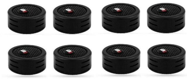 "4 Pairs of Bass Inferno 350 W 1"" Directional Mount Dome Tweeter W/Crossover"