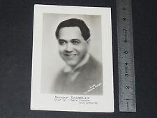 PHOTO ARTISTES DISQUES ODEON 1928 VILLABELLA TENOR OPERA COMIQUE