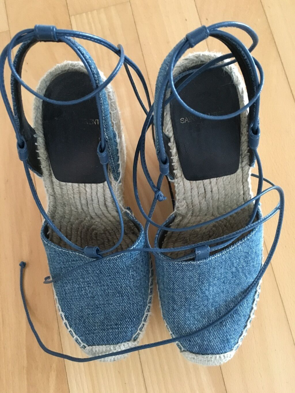 Saint Laurent 36 Schuhe Espadrille Denim Gr. 36 Laurent 2ec051
