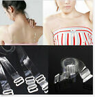 Newest Women 2X Adjustable Invisible Transparent Clear Bra Strap Metal Hook 1CM