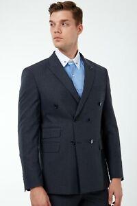 Jack Martin-grau Nadelstreifen doppelte Knopfleiste Anzug/Herren Business & Hochzeit Anzug