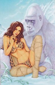 CAVEWOMAN FREAKIN' YETIS #1 CONNY VALENTINA SPECIAL EDITION COVER G 400 COPIES
