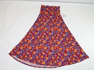 Conception innovante 17289 d10b4 Détails sur Lularoe Femmes Maxi Jupe Trapèze M Neuf avec Étiquettes Longue  Rouge Orange