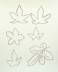 MATISSE-mounted-ltd-ed-deluxe-vintage-print-14-x-11-034-1974-leaves-ES195