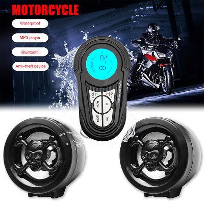 Waterproof USB Bluetooth Motorcycle Stereo Speakers MP3 Audio Radio System Sound