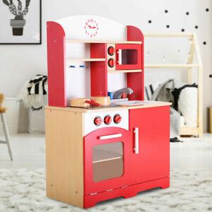 Details zu Kinderspielküche Kinderküche Spielküche aus Holz Spielzeugküche  Küche + Zubehör
