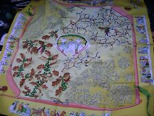 vintage authentic Hermes shawl -100% silk   (Canada)
