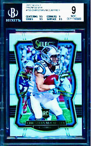 BGS 9 RC Christian McCaffrey 2017 Select SILVER PRIZM #155 Rookie .5 to BGS 9.5