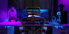 Atlas Suspension Headrest For Herman Miller Black Aeron Gaming Chair