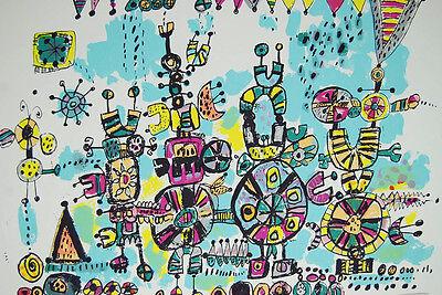 Robert Bennett Talking Machines 1979 Abstract Art Signed Lithograph