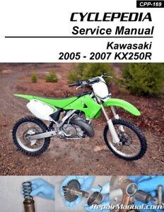 Kawasaki Kx250r Printed Motorcycle Service Manual 2005 border=