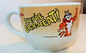 Vintage-Kellogg-039-s-TONY-THE-TIGER-They-039-re-GR-R-REAT-Jumbo-Mug-1998
