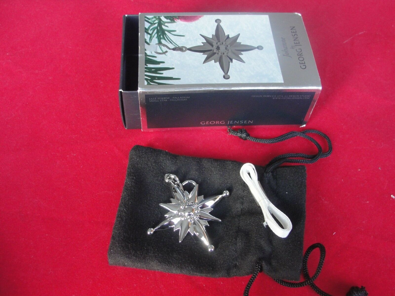 Georg Georg Georg Jensen Decorazione di Natale Coloreeee argentoo acciaio 4ae8ac