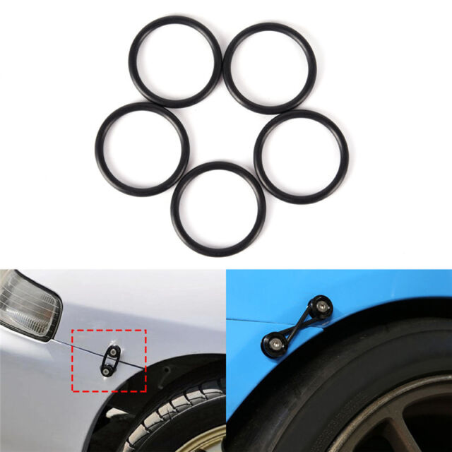 4Pcs Rubber O-Ring FastenerKit High Strength Bumper Quick Release Replacement KK