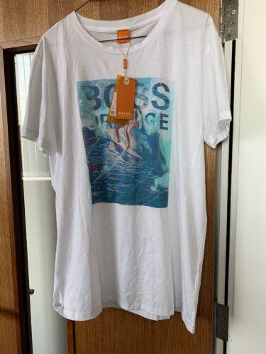 medio BNWT Para Hombre Hugo Boss Surf 100/% cotton t-shirts RRP £ 55