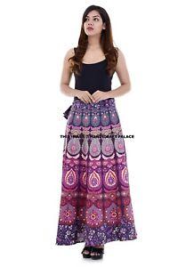 Indian-Women-Peacock-Mandala-Rapron-Printed-Cotton-Long-Skirt-Wrap-Around-Skirt