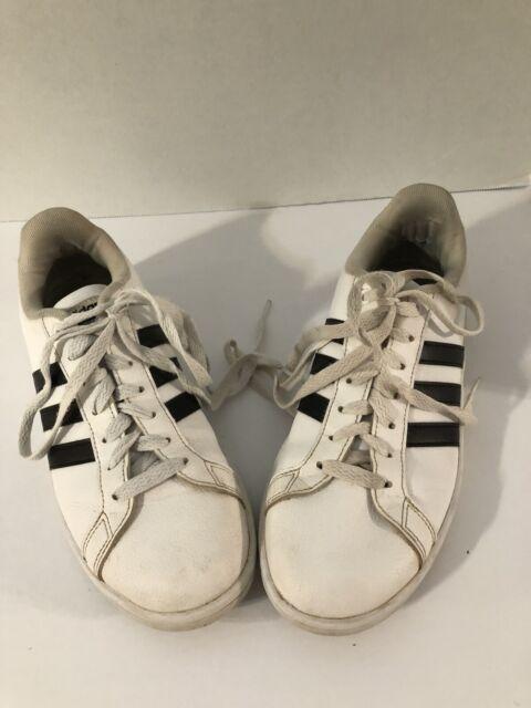 Size 11 - adidas Cloudfoam Advantage White Black - AW4287