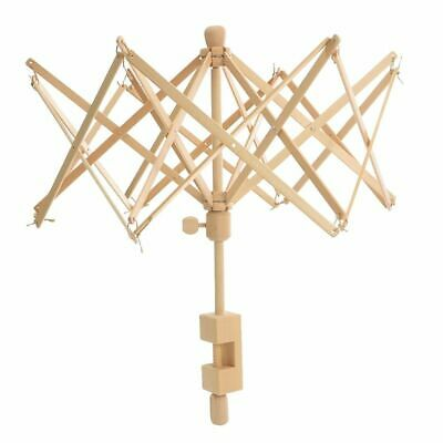 Wooden Winder Holder Umbrella Fiber String Wool Swift Yarn Thread Knitting Tools