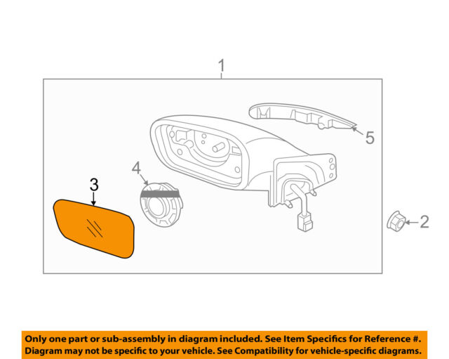 876113q010 Left Side Mirror Replacement Glass Oem For Hyundai Sonata