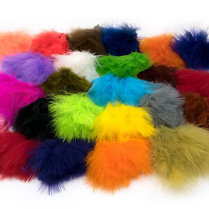 STRUNG-MARABOU-BLOOD-QUILLS-Hareline-Fly-Tying-Feathers-Jig-Fishing-Lure-Craft