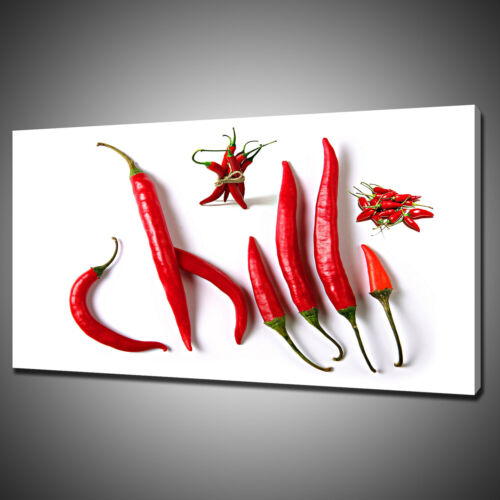 RED HOT CHILLIES CANVAS PICTURE PRINT WALL HANGING ART HOME DECOR