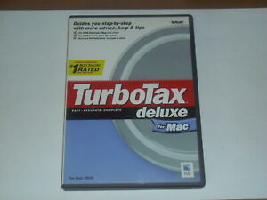 Details about Intuit TurboTax Deluxe for Tax Year 2002 for Apple Mac OS  8 x, 9 x, 10 x