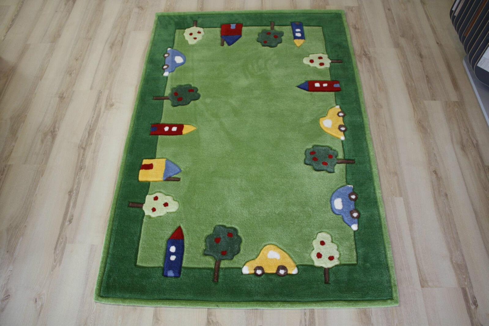 Tapis pour Enfants Cars Voitures 110x170 cm 3386-04 Handtuft