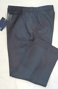 BNWT-MENS-SIZE-38-BLUE-GREY-FLAT-FRONT-TROUSERS-BY-PREMIER-MAN